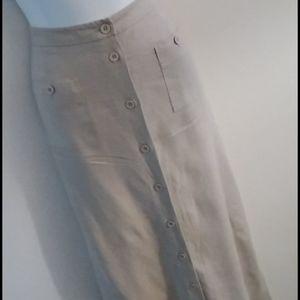 Vintage High Waisted Floor Length Skirt